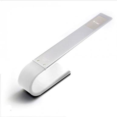 LED φωτιστικό γραφείου 6.5W Θερμό/φυσικό/ψυχρό λευκό με Λευκό σώμα εύκαμπτο dimmable επαναφορτιζόμενο