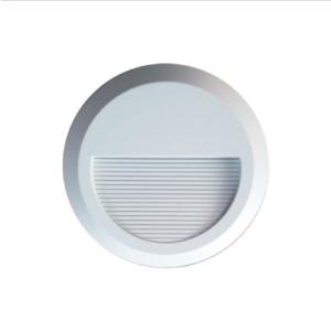 Επιτοίχιο φωτιστικό LED σκάλας 2W Στρογγυλό Λευκό 4000K Φυσικό λευκό IP65