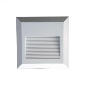 Επιτοίχιο φωτιστικό LED σκάλας 2W Τετράγωνο Λευκό 3000K Θερμό λευκό IP65