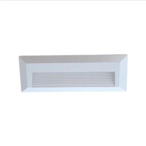 Επιτοίχιο φωτιστικό LED σκάλας 3W Ορθογώνιο Λευκό 4000K Φυσικό λευκό IP65