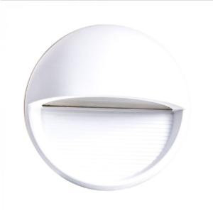 Επιτοίχιο φωτιστικό LED σκάλας 3W Στρογγυλό Λευκό 3000K Θερμό λευκό IP65