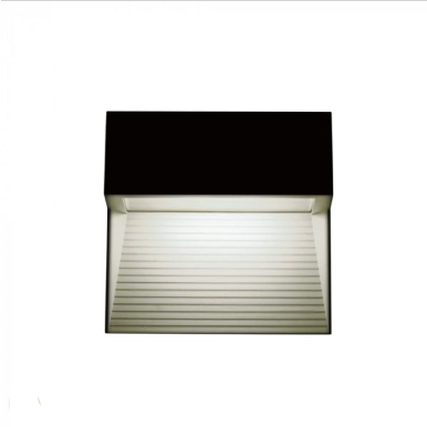 Επιτοίχιο φωτιστικό LED σκάλας 3W Τετράγωνο Μαύρο 3000K Θερμό λευκό IP65