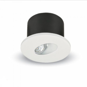 LED φωτιστικό χωνευτό στρογγυλό COB 3W 3000K Θερμό λευκό