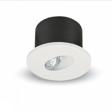 LED φωτιστικό χωνευτό στρογγυλό COB 3W 4000K Φυσικό λευκό