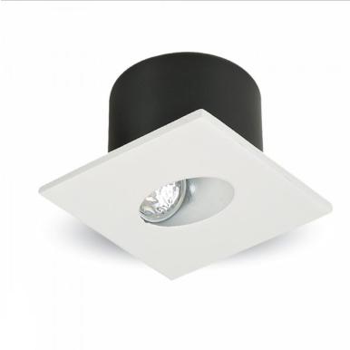 LED φωτιστικό χωνευτό τετράγωνο COB 3W 3000K Θερμό λευκό