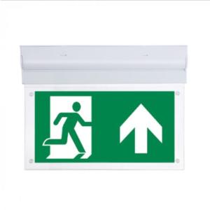 LED Φωτιστικό ασφαλείας επιτοίχιο ή οροφής 2W με ρυθμιζόμενη γωνία
