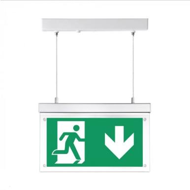 LED Φωτιστικό ασφαλείας επιφανειακό κρεμαστό 2W
