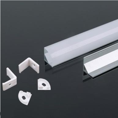 Προφίλ αλουμινίου για ταινίες led γωνιακό 2000 x 15.8 x 15.8mm λευκό σώμα