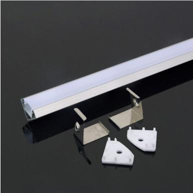 Προφίλ αλουμινίου για ταινίες led γωνιακό 2000x19x19mm λευκό σώμα