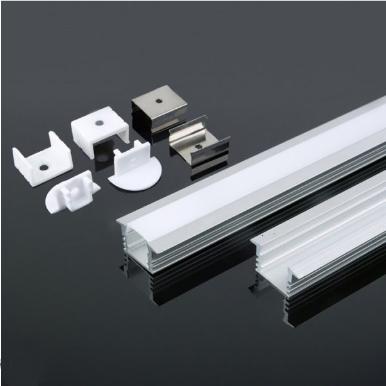Προφίλ αλουμινίου για ταινίες led χωνευτό 2000×24.5×12.2mm