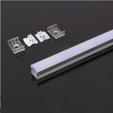 Προφίλ αλουμινίου για ταινίες led 2000×17.2×15.5mm λευκό σώμα