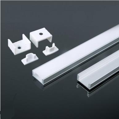 Προφίλ αλουμινίου για ταινίες led 2000×17.4x7mm λευκό σώμα