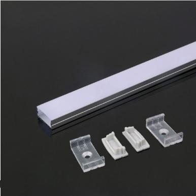 Προφίλ αλουμινίου για ταινίες led 2000×23.5x10mm λευκό σώμα