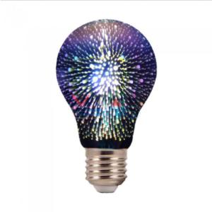 Λάμπα LED E27 Special Art Filament A60 3W 3D Θερμό λευκό 3000K