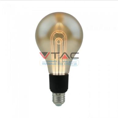 Λάμπα LED E27 Special Art Filament G100 5W Amber Θερμό λευκό 2200K