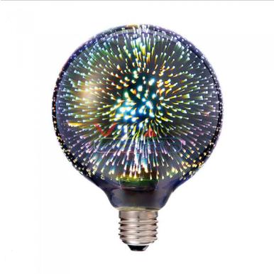Λάμπα LED E27 Special Art Filament G125 3W 3D Θερμό λευκό 3000K