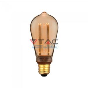 Λάμπα LED E27 Special Art Filament ST64 4W Amber Θερμό λευκό 1800K