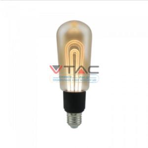 Λάμπα LED E27 Special Art Filament T60 5W Amber Θερμό λευκό 2200K