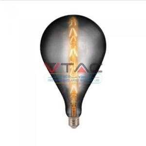 Λάμπα LED E27 Special Filament G165 8W Θερμό λευκό 2200K καπνισμένο γυαλί