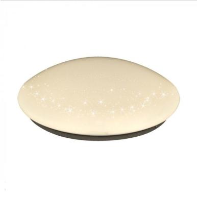 LED πλαφονιέρα/απλίκα 12W Στρογγυλό 3000K Θερμό λευκό με Λευκό σώμα Bling Star