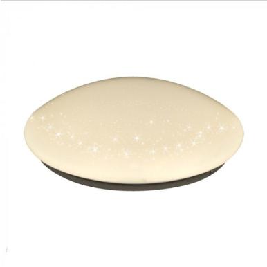 LED πλαφονιέρα/απλίκα 8W Στρογγυλό 6400K Λευκό με Λευκό σώμα Bling Star