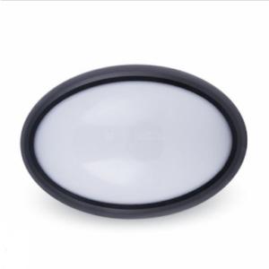 LED πλαφονιερα/απλίκα 8W Οβάλ 6000K Λευκό Μαύρο σώμα