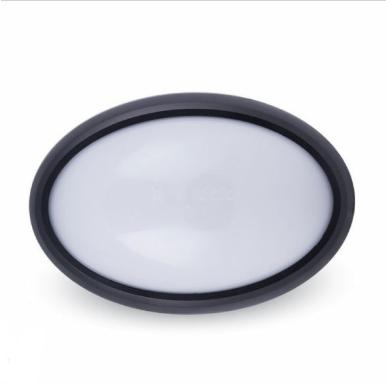 LED πλαφονιερα/απλίκα 8W Οβάλ 4500K Φυσικό λευκό Μαύρο σώμα