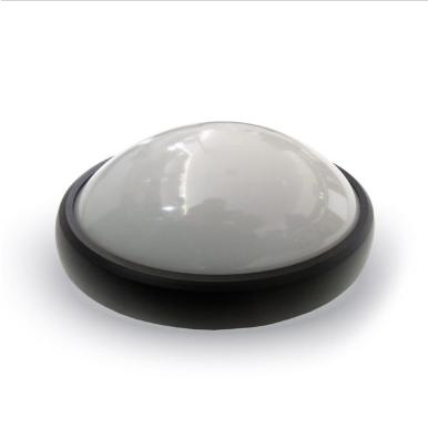 LED πλαφονιερα/απλίκα 8W Στρογγυλό 6000K Λευκό Μαύρο σώμα