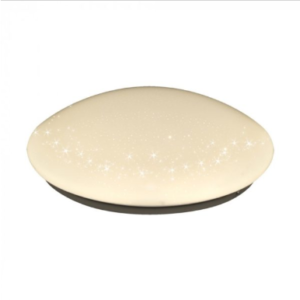 LED πλαφονιέρα/απλίκα 18W Στρογγυλό 6400K Λευκό με Λευκό σώμα Bling Star