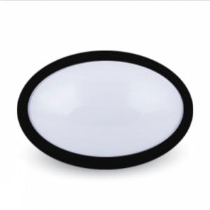 LED πλαφονιερα/απλίκα 12W Οβάλ 4500K Φυσικό λευκό Μαύρο σώμα
