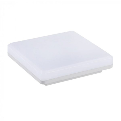 LED πλαφονιέρα 32W Τετράγωνη 6400K Λευκό με Λευκό σώμα