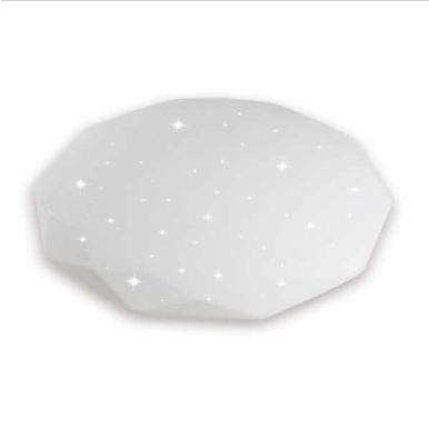 LED πλαφονιέρα/απλίκα 40W με τηλεχειριστήριο και επιλογή στα τρία βασικά χρώματα – Ντιμαριζόμενο – Σχήμα διαμαντιού με λευκό κάλυμμα