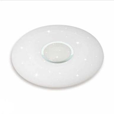 LED πλαφονιέρα/απλίκα 40W με τηλεχειριστήριο και επιλογή στα 3 βασικά χρώματα – Ντιμαριζόμενο – Σχήμα οβάλ με λευκό κάλυμμα