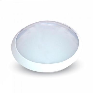 LED πλαφονιερα/απλίκα με αισθητήρα κίνησης 12W Στρογγυλό 6000K Λευκό Λευκό σώμα