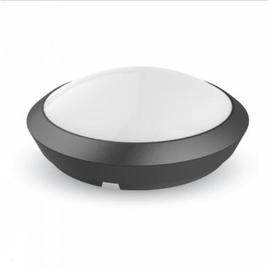 LED πλαφονιερα/απλίκα με αισθητήρα κίνησης 12W Στρογγυλό 4500K Φυσικό λευκό Μαύρο σώμα