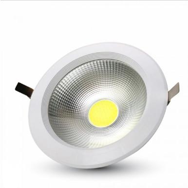 LED φωτιστικό οροφής χωνευτό High-Lumen Στρογγυλό COB 20W 4500K Φυσικό λευκό