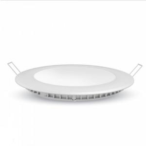 LED panel χωνευτό 12W 3000K Θερμό λευκό Στρογγυλό