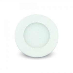 LED panel χωνευτό 3W 4000K Φυσικό λευκό Στρογγυλό