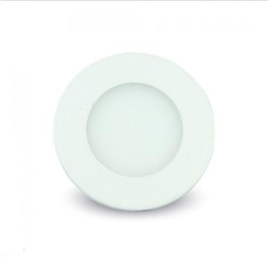 LED panel χωνευτό 3W 3000K Θερμό λευκό Στρογγυλό