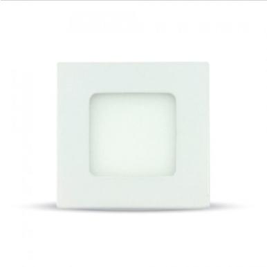 LED panel χωνευτό 3W 4000K Φυσικό λευκό Τετράγωνο