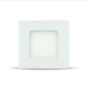 LED panel χωνευτό 3W 6400K Λευκό Τετράγωνο