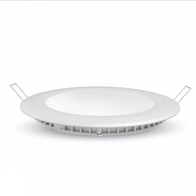 LED panel χωνευτό 6W 3000K Θερμό λευκό Στρογγυλό