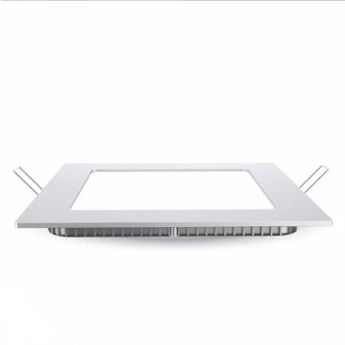 LED panel χωνευτό 12W 3000K Θερμό λευκό Τετράγωνο
