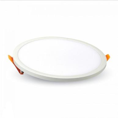LED panel χωνευτό 8W 6400K Λευκό Στρογγυλό