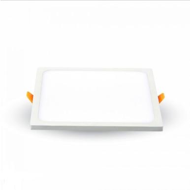 LED panel χωνευτό 8W 3000K Θερμό λευκό Τετράγωνο