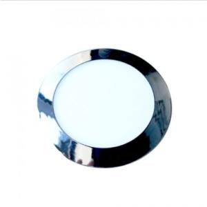 LED panel χωνευτό 18W 3000K Θερμό λευκό Στρογγυλό Χρώμιο