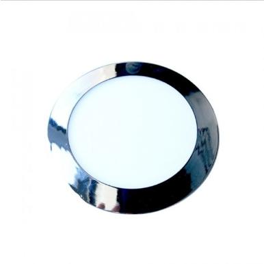 LED panel χωνευτό 18W 6400K Λευκό Στρογγυλό Χρώμιο