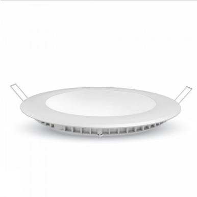 LED panel χωνευτό 24W 6400K Λευκό Στρογγυλό