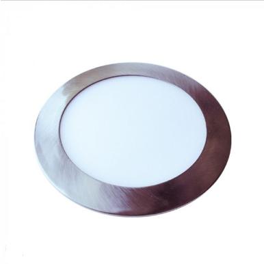 LED panel χωνευτό 24W 6400K Λευκό Στρογγυλό Satin Nickel