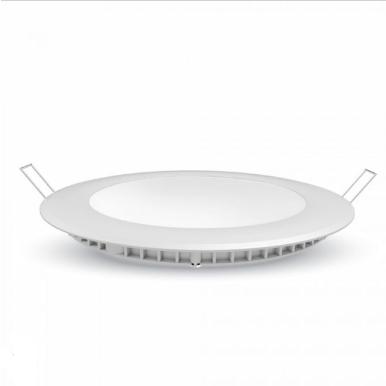 LED panel χωνευτό 30W 6400K Λευκό Στρογγυλό